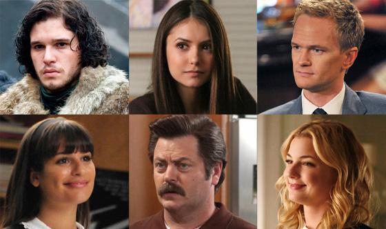Lea Michele, Glee Neil Patrick Harris, How I Met Your Mother Emily Van Camp, Revenge Kit Harington, Game of Thrones Nina Dobrev, Vampir