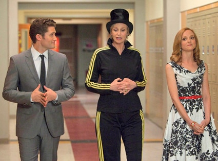 Glee, Matthew Morrison, Jane Lynch, Jayma Mays