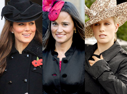 Duchess Catherine, Pippa Middleton, Zara Phillips