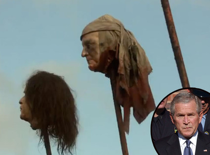 Game Of Thrones Shocker George W Bush S Head Shown Decapitated On