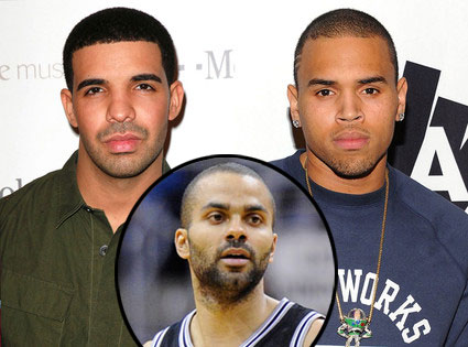 Drake, Chris Brown, Tony Parker