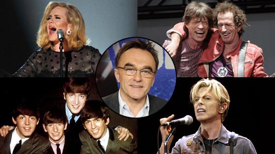 Danny Boyle, Rolling Stones, Beatles, David Bowie, Adele