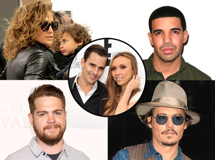 Johnny Depp, Drake, Jennifer Lopez, Jack Osbourne, Giuliana and Bill Rancic