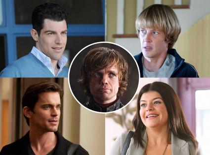 Gabriel Mann, Revenge, Casey Wilson, Happy Endings, Matt Bomer, Glee, Max Greenfield, New Girl, Peter Dinklage, Game of Thrones