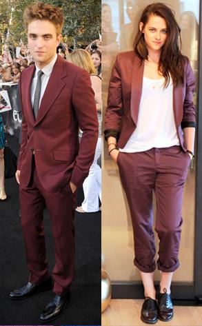 Kristen Stewart, Robert Pattinson red suit