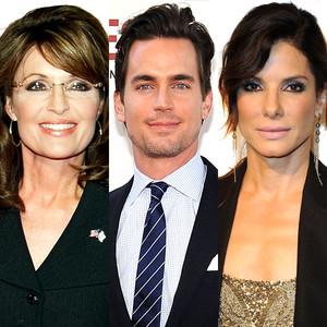 Sandra Bullock, Sarah Palin, Matt Bomer