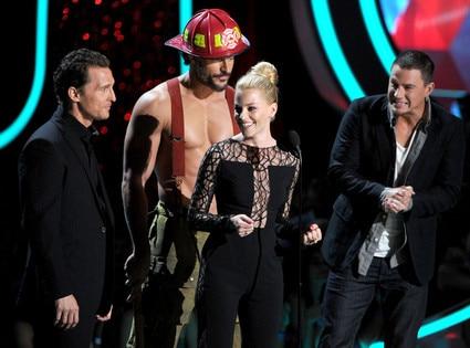 MTV Movie Awards Show, Joe Manganiello, Channing Tatum, Elizabeth Banks, Matthew McConaughey