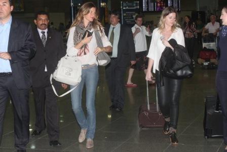 Gisele Bündchen no aeroporto