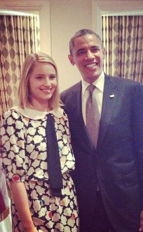 Dianna Agron, Barack Obama