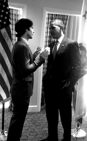 Ian Somerhalder, Barack Obama