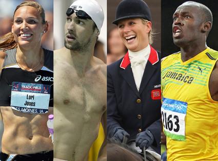 Michael Phelps, Usain Bolt, Zara Phillips, Lolo Jones