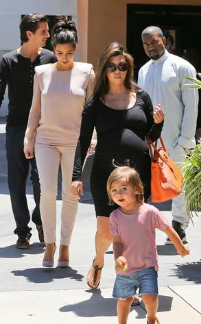 Kim Kardashian, Kanye West, Scott Disick, Mason Disick, Kourtney Kardashian