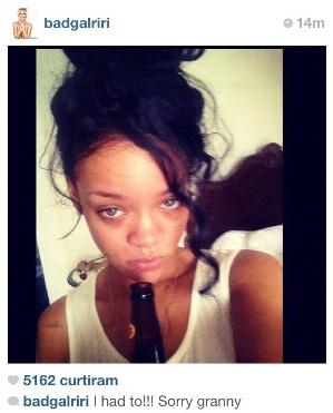Rihanna. Instagram