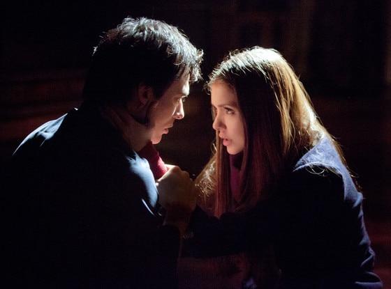 The Vampire Diaries, Ian Somerhalder as Damon and Nina Dobrev
