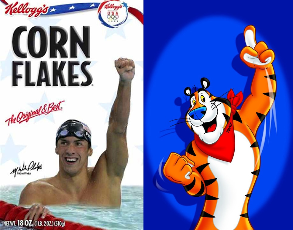 Michael Phelps, Tony the Tiger