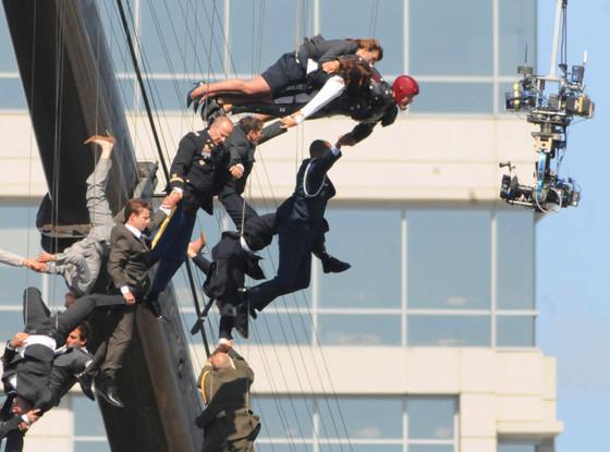 Iron Man 3, Stunts