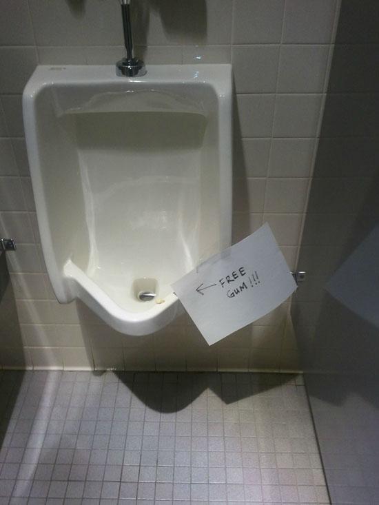 Free Gum Urinal Soup X2