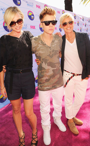TEEN CHOICE 2012, Justin Bieber, Portia de Rossi, Ellen DeGeneres