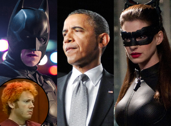Barack Obama, Dark Knight Rises, James Holmes