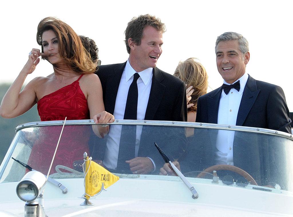 George Clooney, Cindy Crawford, Rande Gerber