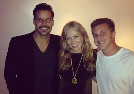 Ricky Martin, Angélica, Luciano Huck
