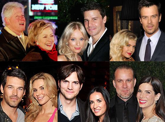 Josh Duhamel, Fergie, David Beckham, Victoria Beckham, David Boreanaz, Ashton Kutcher, Demi Moore,  Eddie Cibrian
