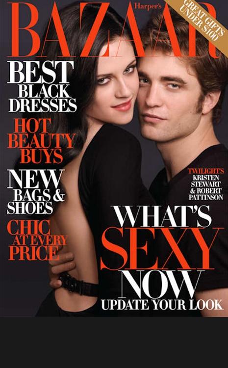 Black Bar for Galleries, do not use in blog, Kristen Stewart, Robert Pattinson, Magazine Cover
