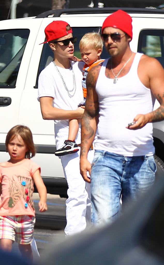 Justin Bieber, Jeremy Bieber, Jaxon Bieber, Jazmyn Bieber