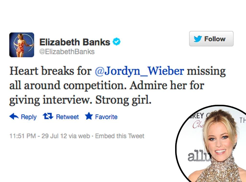 Olympic Tweets, Elizabeth Banks