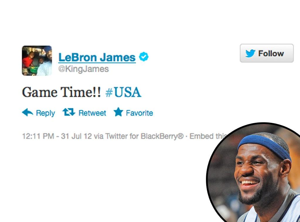 Olympic Tweets, LeBron James