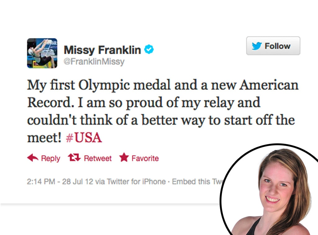 Olympic Tweets, Missy Franklin