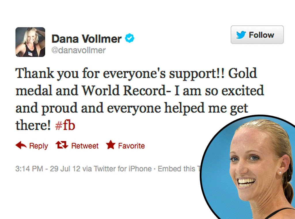 Olympic Tweets, Dana Vollmer