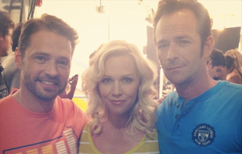 Jennie Garth, Luke Perry, Jason Priestley