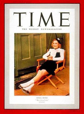 Sonja Henie Time magazine