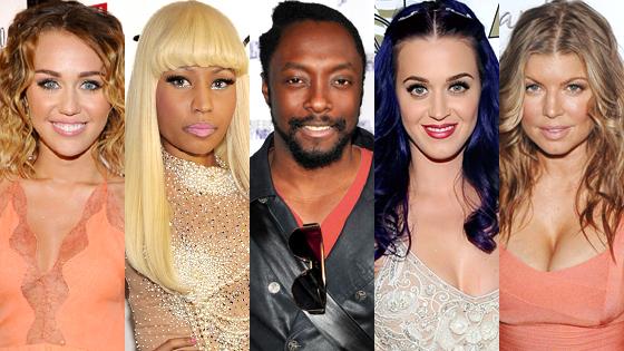 Miley Cyrus, Nicki Minaj, Fergie, Katy Perry, will.i.am