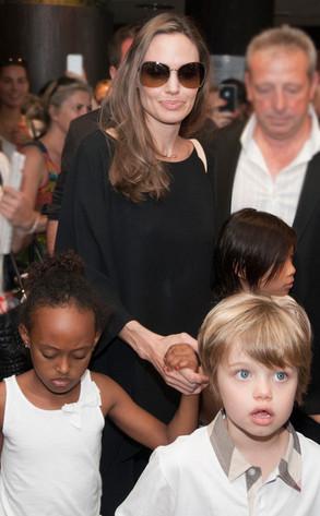 Angelina Jolie, Shiloh Jolie-Pitt, Zahara Jolie-Pitt and Pax Thien Jolie-Pitt