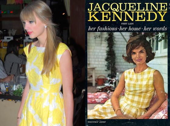 Taylor Swift, Jacqueline Kennedy, Yellow dress