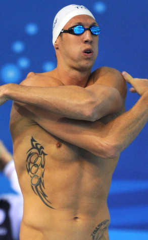 Olympic Rings Tattoos, Alain Bernard