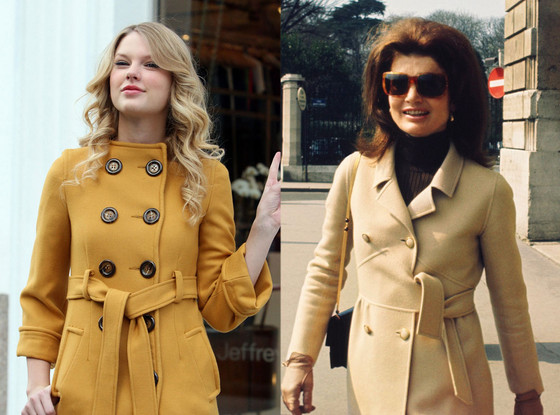 Taylor Swift, Jacqueline Kennedy, Trench