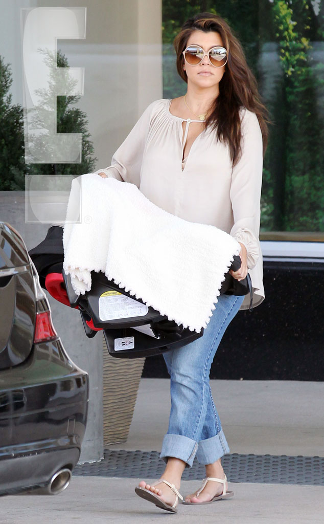 Kourtney Kardashian, Penelope Disick, Scott Disick, WATERMARKED