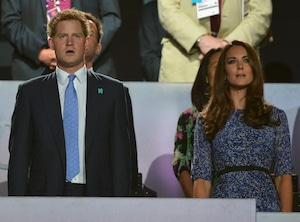Closing Ceremony London 2012 Olympic Games, Kate Middleton, Duchess of Cambridge, Prince Harry