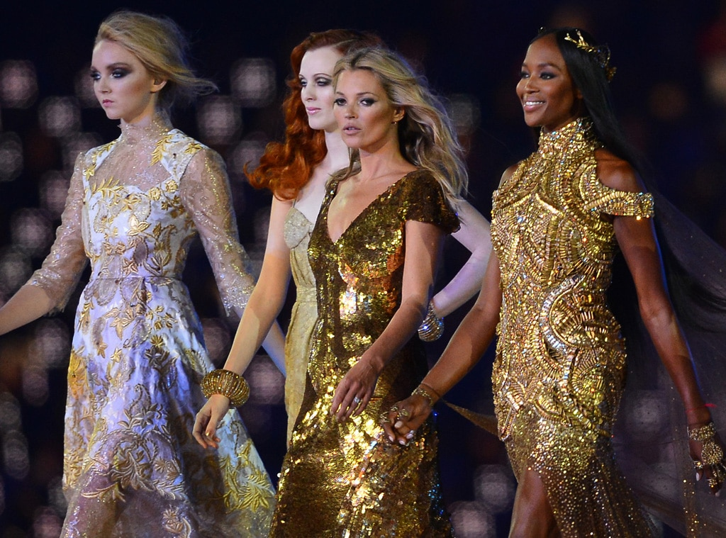 Closing Ceremony London 2012 Olympic Games, Karen Olson, Kate Moss, Lily Cole, Naomi Campbell