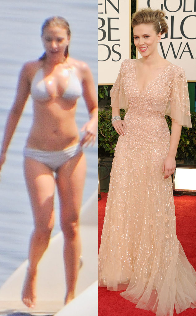 Scarlett Johansson, Bikini vs Red Carpet