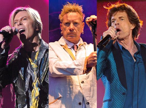 David Bowie, The Sex Pistols, Mick Jagger