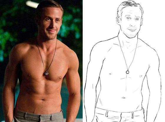 Ryan Gosling Coloring Book, Crazy Stupid Love