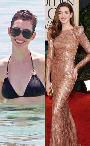 Anne Hathaway, Bikini vs Red Carpet