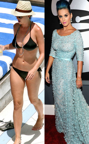 Katy Perry, Bikini vs Red Carpet