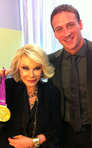 Joan Rivers, Ryan Lochte, Twit Pic