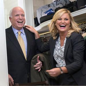 PARKS AND RECREATION, Senator John McCain, Amy Poehler