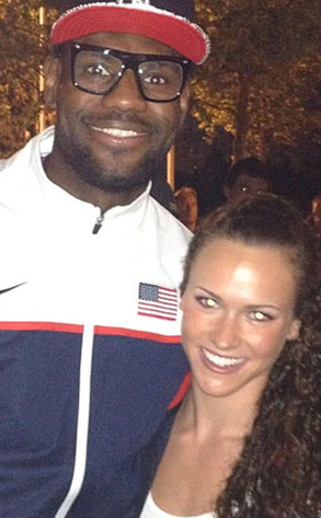 Lauren Perdue, Lebron James, Twit Pic